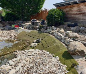 Pflanzbereiche mit Ufermatten