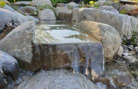 Teichbau - Wasserlauf